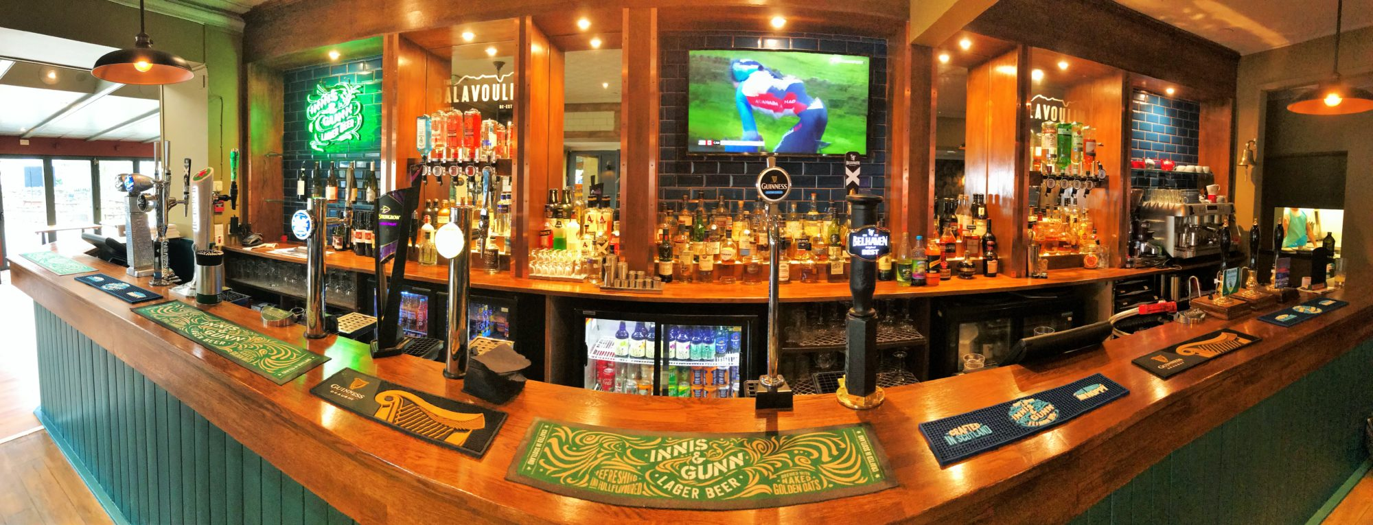 the bar at The Balavoulin Aviemore bar with food rooms sports